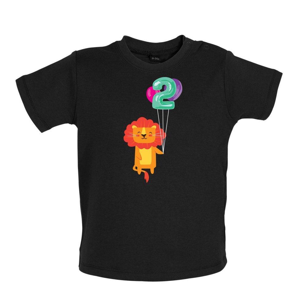 Baby//Toddler T-Shirt Dressdown 2nd Birthday Lion 3-24 Months