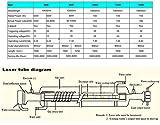 MCWlaser 60W Peak 80W Glass CO2 Laser Tube 1250mm