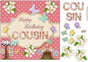 Joyeux Anniversaire Cousin Decoration Par Sandra Carlse Amazon Fr