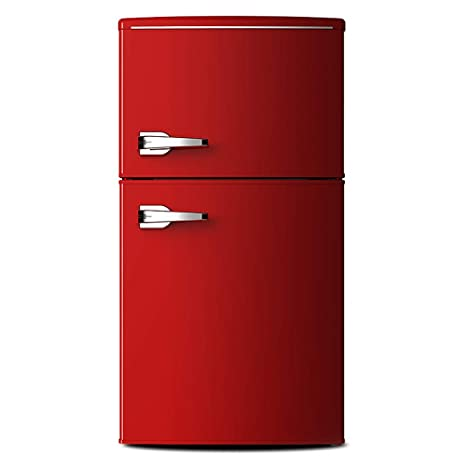 HMLH 85L Rojo congelador 57 cm de Ancho Vertical, iluminación ...