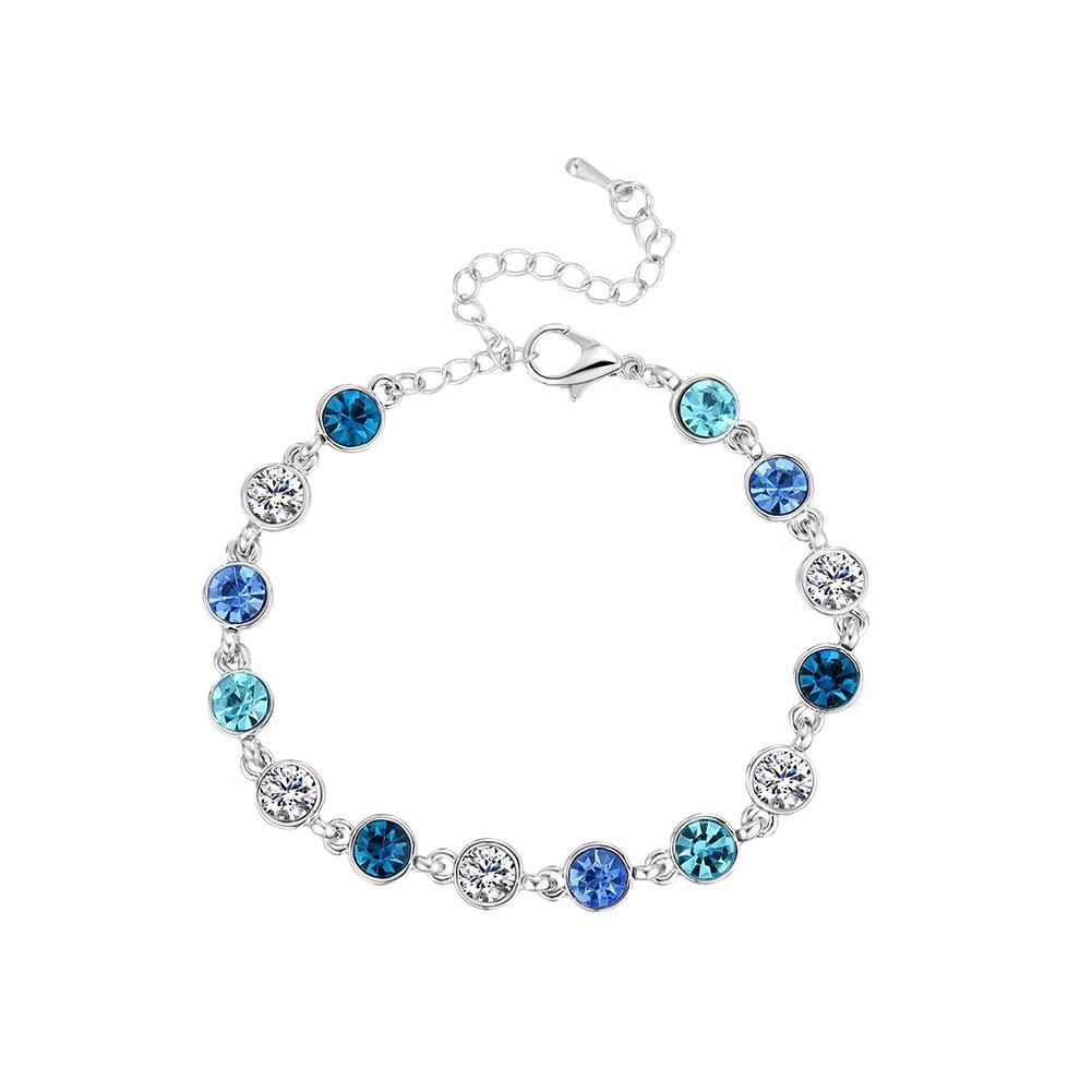 Milnut Femme Bracelet fleur simple en alliage strass Bijoux Fashion Cadeau