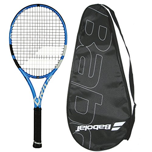 Babolat 2018 Pure Drive Tennis Racquet - with POP Tennis Sensor - Strung with Cover (4-1/4)