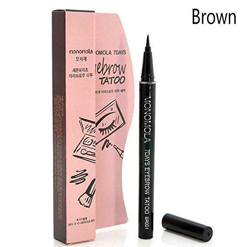 Oceaneshop Brown Women Makeup 7 Days Waterproof Eyebrow Pencil Eye Brow Tattoo Pen Liner (Tattoo Pencil)