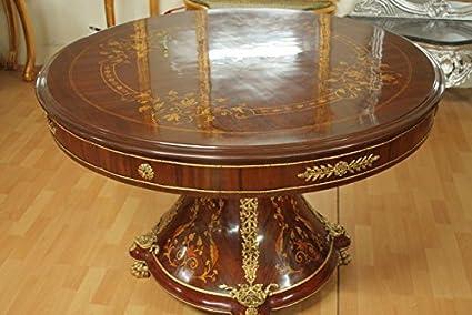 LouisXV Tavolo Rotondo Antico Stile Barocco rococò mota0685 ...