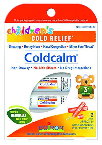 Boiron Medicine (Boiron Children's Coldcalm, 1 Pack (2, 80-Pellet Tubes) Homeopathic Medicine for Cold Relief)