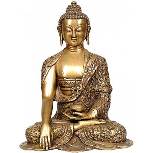 - Idol Collections Bhumisparsha Mudra Buddha Brass Statue, Golden