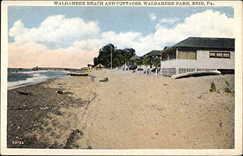 Waldameer Beach and Cottages, Waldameer Park Erie, Pennsylvania Original Vintage Postcard (Waldameer Park)