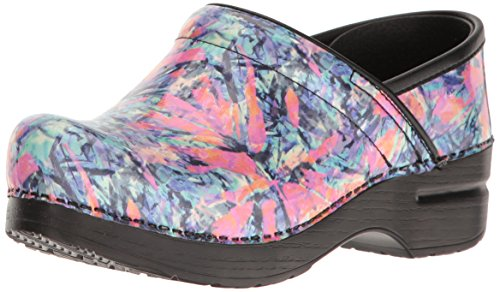 Dansko, Damen Clogs & Pantoletten Color Burst Patent