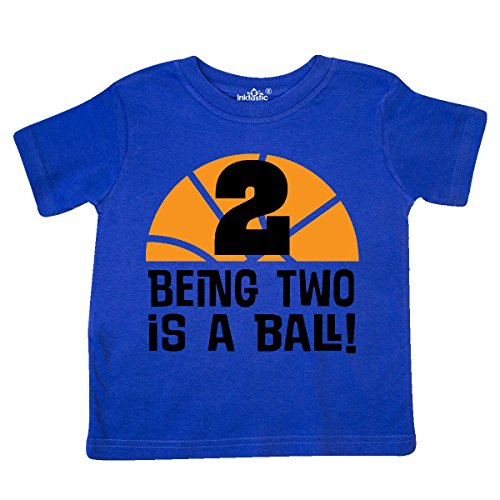 inktastic 2nd Birthday Basketball Sports Boys Toddler T-Shirt 2T Royal Blue