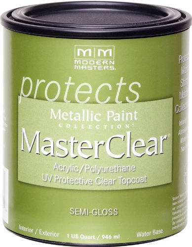 Gloss Clear Top Coat - Modern Masters ME662-32 Masterclear Semi-Gloss, 32-Ounce