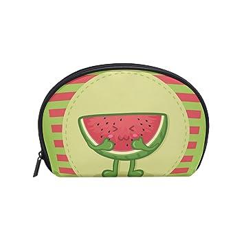 74de033a3421 Amazon.com : Tiffa Lit Makeup Bag, Shell Shape Cute Watermelon Fruit ...
