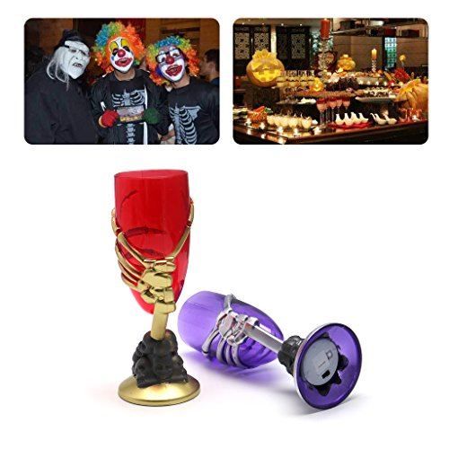 Itemap Halloween Luminous Skull Cup Glass for Dress Costume Prop Party Bar