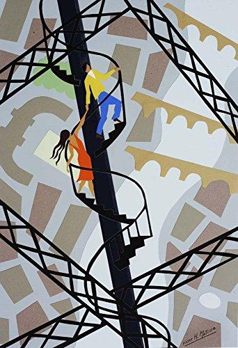 Escalier D'Amour Pierre H. Mattise Art Print, 10 x 14 inches