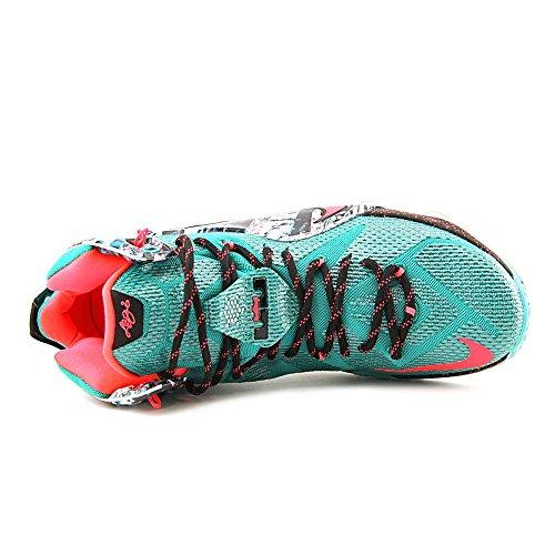 Chaussures De Basket Nike Lebron Xii Hommes Vert Émeraude / Hyper Punch-dark Emerald