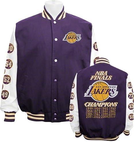 Los Angeles Lakers Conmemorativa Campeonato Varsity chaqueta ...