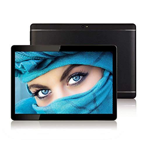 🥇 Tableta Android de 10 Pulgadas con Ranuras para Tarjetas Sim – 10.1 «4GB RAM 64GB ROM Ocho nucleos 3G Teléfono gsm Desbloqueado Tableta PC con WiFi Bluetooth FM GPS Youtube Netflix