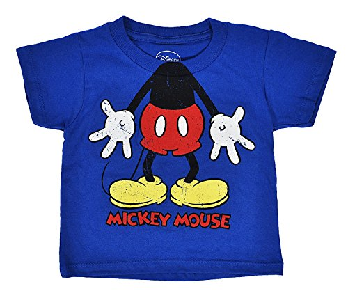 Character Kids T-shirt - Mickey Mouse Toddler Boys Character T Shirt (4T, Royal)