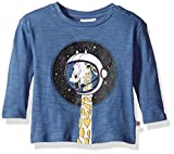 Rosie Pope Baby Boys Giraffe in Space Tee, Blue, 18M
