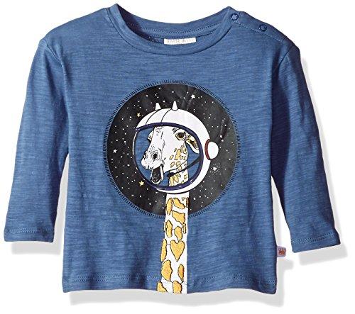 Rosie Pope Baby Boys Giraffe in Space Tee, Blue, 18M by Rosie Pope