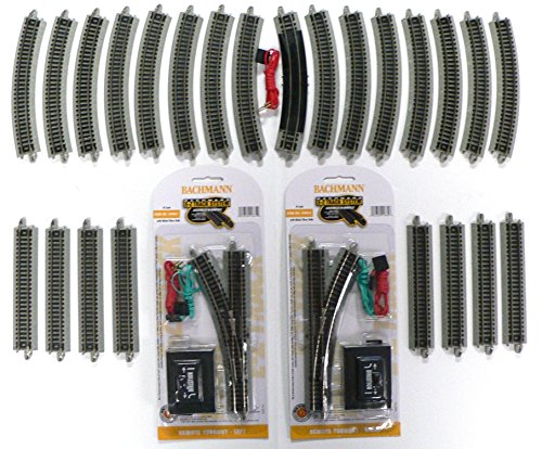 (N Scale Bachmann Nickel Silver EZ Track Pack for Model Railroad Trains)