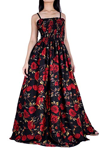 Red Floral Special Occasion Wedding Guest Holiday Elegant Tall Ladies Maxi Dress (1X-Extra Long, Red Rose)