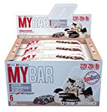 Pro Supps MYBAR Delicious Oven Baked Protein Bar (Ice Cream Cookie Crunch), 20g Protein, Only 6g Sugar, Gluten-free, No Trans Fat, Healthy on-the-go Snack. 6 Count, Net WT 1.94 ounces For Sale