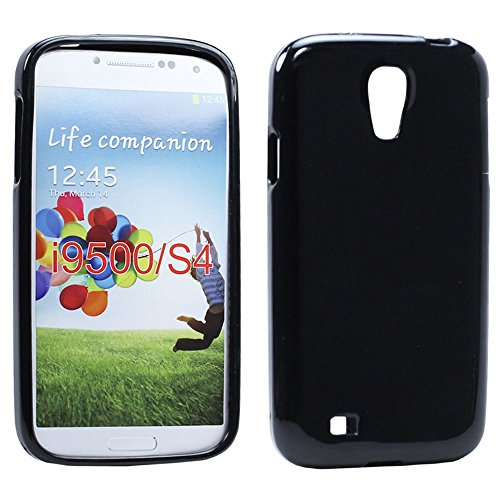 Galaxy S4 Case, Ultra [Slim Thin] Soft TPU Gel Rubber Soft Skin Silicone Shock-Absorption Scratch Resistant Protective Transparent Case Cover for Samsung Galaxy S4 IV i9500 (Black)