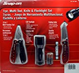 Snap on 3pc multi tool knife & flashlight set