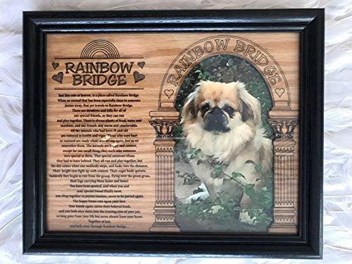 8 x 10 Rainbow Bridge Pet Sympathy Memorial Memory Picture Framed Matte ~ Alder Wood ~