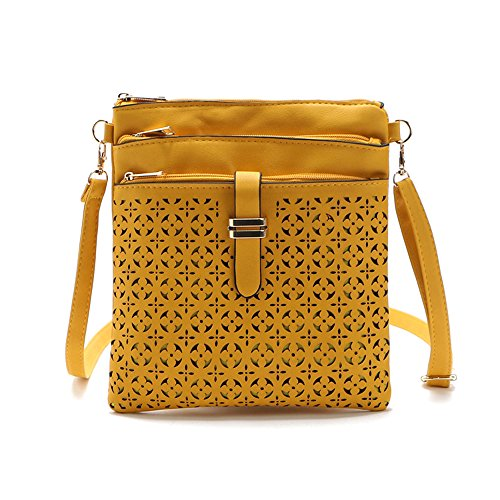 Bag Mustard Filigree Zip Crossbody Four ttXIa