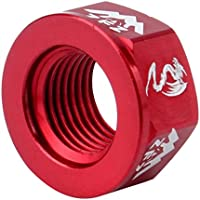 P Prettyia 4Pcs Durable Track Wheel Nuts Bicycle BMX Fixie M10 Axle Screw for Rear Hub Red