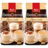 Melitta Coffee BellaCrema Speciale, Whole Beans, Pack of 2, 2 x 1000g