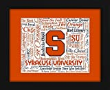 quad chime - Syracuse University 16x20 Art Piece - Beautifully matted and framed behind glass