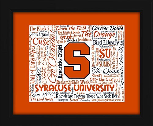 Syracuse Orangemen Art Glass (Syracuse University 16x20 Art Piece - Beautifully matted and framed behind)