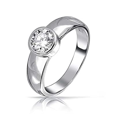 rings bezel stone set ring engagement type diamond wedding platinum setting three