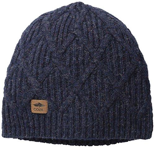 Coal Men's the Yukon Chunky Knit Warm Beanie Hat, Navy, One Size