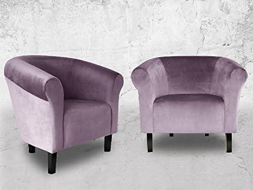 Fortisline Fauteuil Crapaud Monaco Velvet en Velours Parme sièges pour Salon Bistro café W364_22