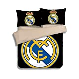 California King Bed Size in Feet Real Madrid Football Bedding Sets 100% Polyester - Sport Do Best Gifts for Football Funs Home Decor Flat Sheet 3PC Twin