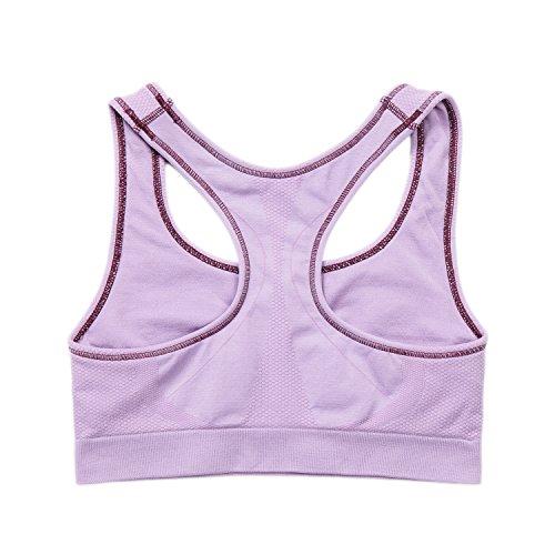 Elastica Viola Banda Cuciture LAPASA Top Senza Reggiseno chiaro Reggente Imbottito Yoga Fitness Sportivo L08 Donna wYqHp1F