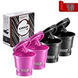 Best Single Cup Coffee Maker CHULUX 4-Pack Reusable Mesh Coffee Filter for Single Cup Coffee Maker,Universal Refillable Ground Coffee Cup