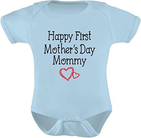 Happy First Mother/'s Day Mommy Gift for New Moms Cute Baby Bodysuit New Mother