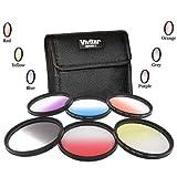 Vivitar 67mm Graduated Color 6 Piece Filter Kit for Nikon D5300 D7000 D7100 DSLR