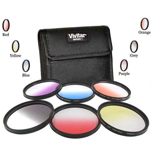 Vivitar 67mm Graduated Color 6 Piece Filter Kit for Nikon D5300 D7000 D7100 DSLR by Promax