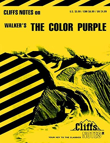 CliffsNotes on Walker's The Color Purple (Cliffsnotes Literature Guides)