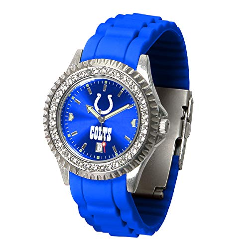 Game Time NFL Indianapolis Colts Womens SparkleWrist Watch, Team Color, One Size