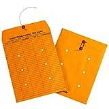 Quality Park String-Tie Inter-Department Envelopes, 1-Side Print, 9 x 12 Inches, Kraft, 100 per Carton (63462)