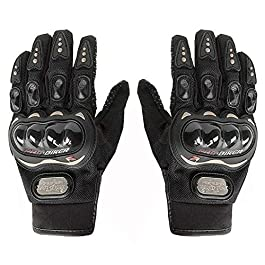 Mra Fashion Moto Biker Hand Gloves for Riding Bikes/Motorcycles/Cycles (Black/X-Large)
