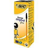 Bic Orange Ball Pen 0.8mm Tip 0.2mm Line Black Ref 1199110114 [Pack of 20]