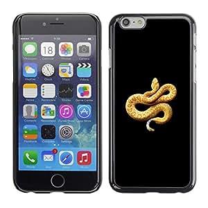 All Phone Most Case / Hard PC Metal piece Shell Slim Cover Protective Case Carcasa Funda Caso de protección para Apple Iphone 6 Plus 5.5 black boa snake venom yellow orange