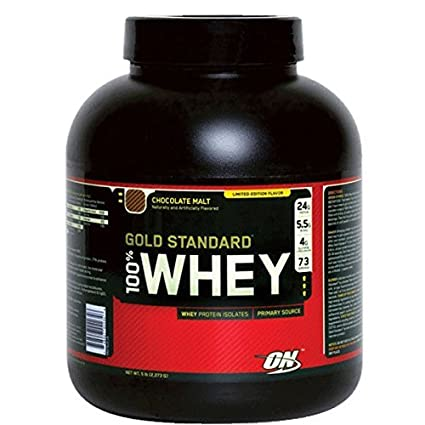 100% Whey Gold Estándar Proteína galletas y Nata 2273g Optimum ...